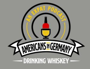 Americans in Europe drinking whiskey